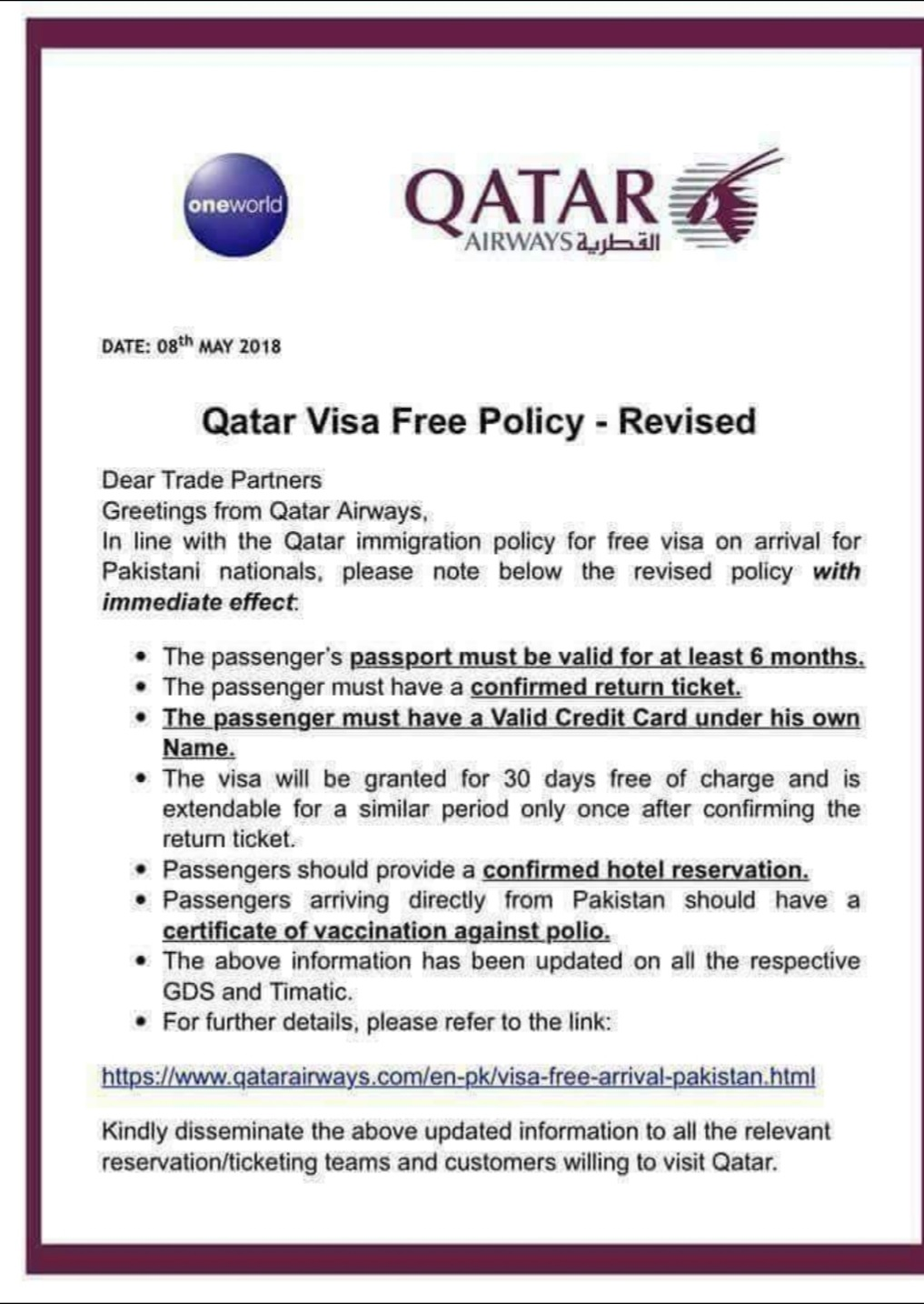 9 rules for expats in Qatar